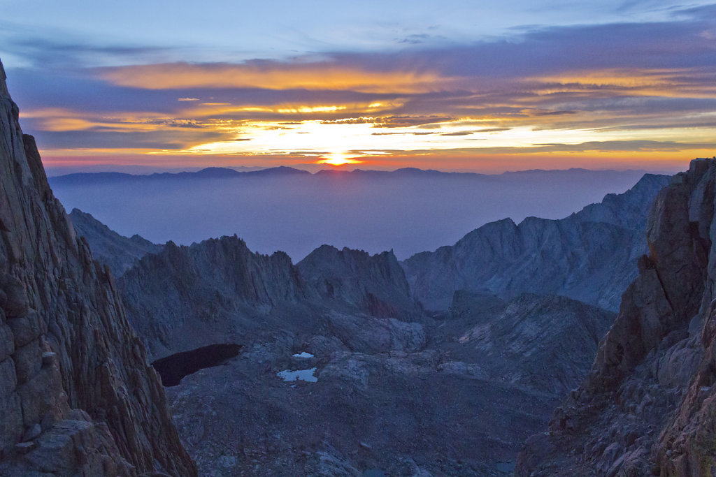 Sunrise over Owens Valley from Windows